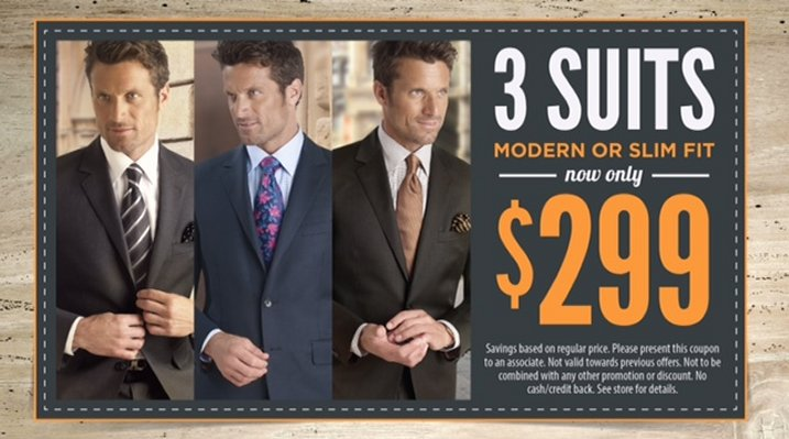 3 Suit Package Starting at $299!